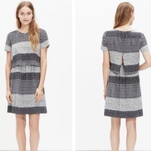 Madewell Silk Open Back Patterned Dress Size 4